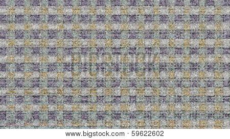 Blurred Blue And Orange Block Pattern