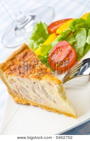Bacon Quiche With Salad