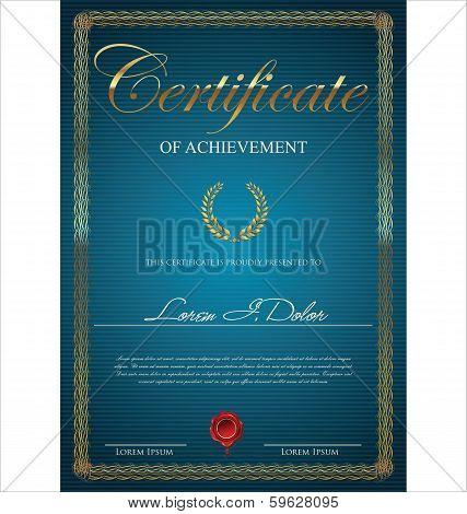 Blue Certificate Template