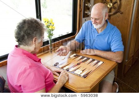 Rv Seniors Playing Board Game