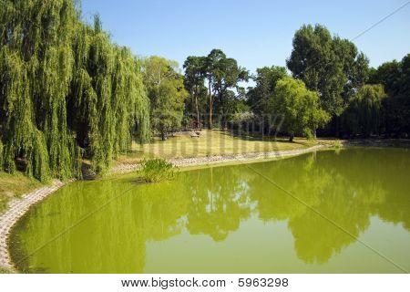 Central Park Of Debrecen City, Hungary