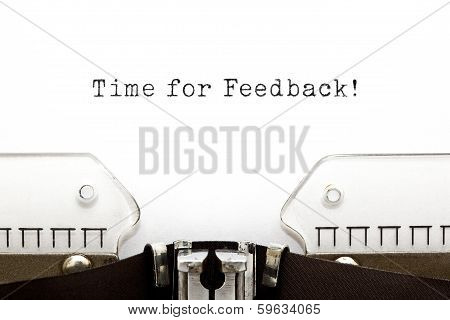 Time For Feedback Typewriter
