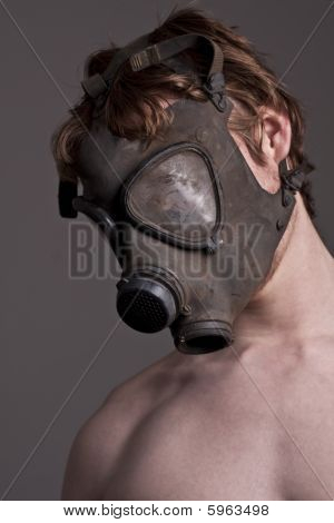 Guy With A Gasmask And Body.