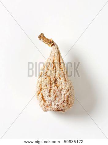 single dried fig with sugar