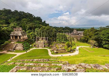 Palenque pyramid in Mexico