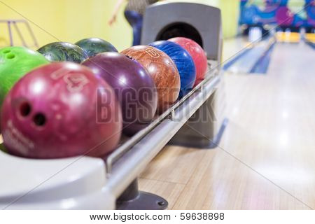 Bowling Balls In One Line