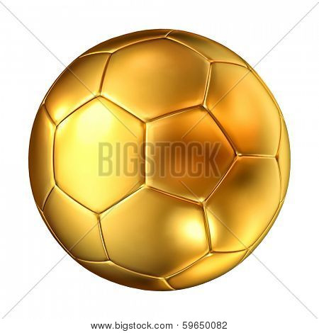 3d image of classic golden soccer ball