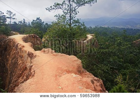 The Narrow Path On A Steep Slope
