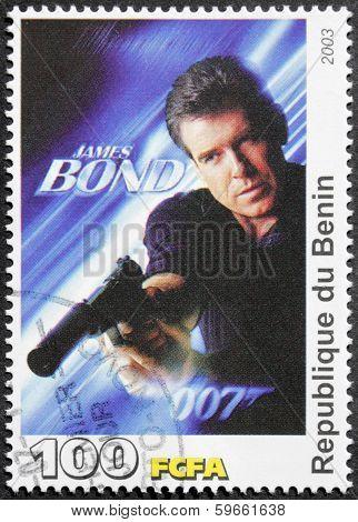Pierce Brosnan Stamp