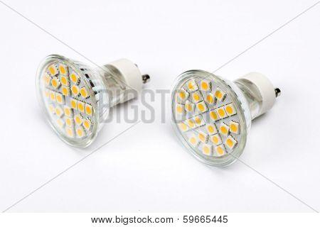 Led SMD light bulb isolated on white background