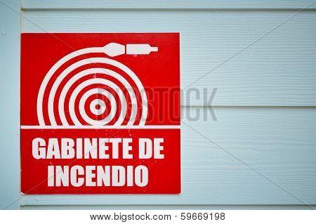 Gabinete De Incendio Sign