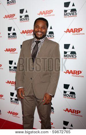 LOS ANGELES - FEB 10:  Malcolm-Jamal Warner at the AARP