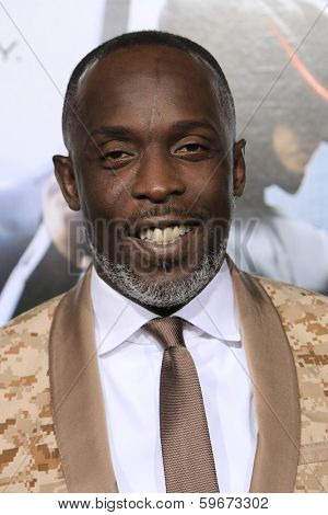 LOS ANGELES - FEB 10: Michael Kenneth Williams at the premiere of Columbia Pictures' 'Robocop' at TCL Chinese Theatre on February 10, 2014 in Los Angeles, California
