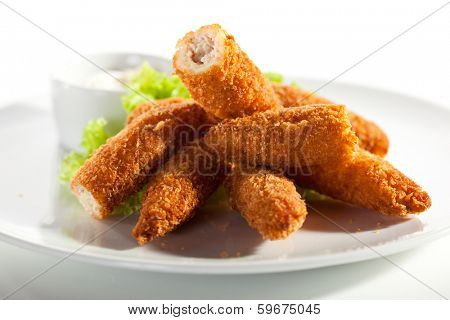 Chicken Sticks with Tar-tar Sauce