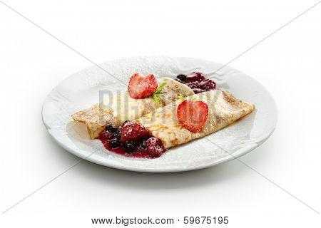 Dessert - Pancakes with Berries