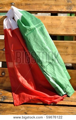 Italian Flags In The Wind