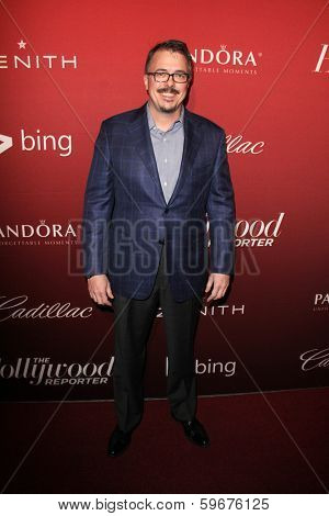 LOS ANGELES - FEB 10:  Vince Gilligan at the The Hollywood Reporter's Annual Nominees Night Party at Spago on February 10, 2014 in Beverly Hills, CA