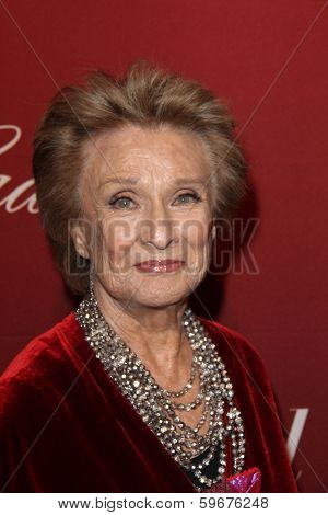 LOS ANGELES - FEB 10:  Cloris Leachman at the The Hollywood Reporter's Annual Nominees Night Party at Spago on February 10, 2014 in Beverly Hills, CA
