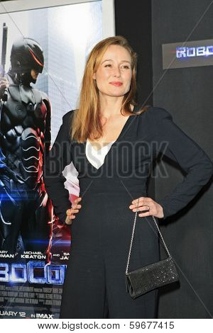 LOS ANGELES - FEB 10: Jennifer Ehle at the premiere of Columbia Pictures' 'Robocop' at TCL Chinese Theatre on February 10, 2014 in Los Angeles, California