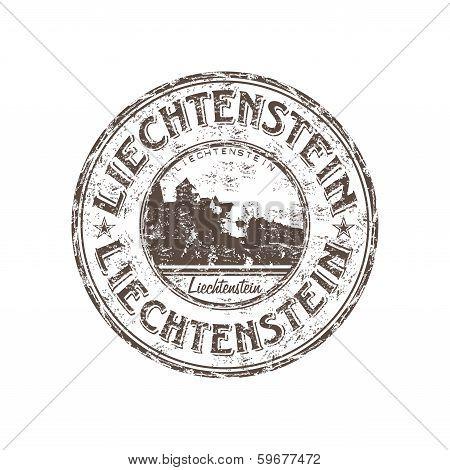 Liechtenstein grunge rubber stamp