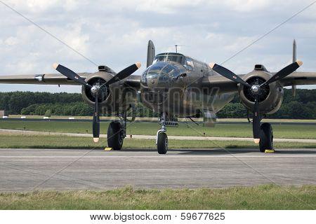 Vintage bomber jet