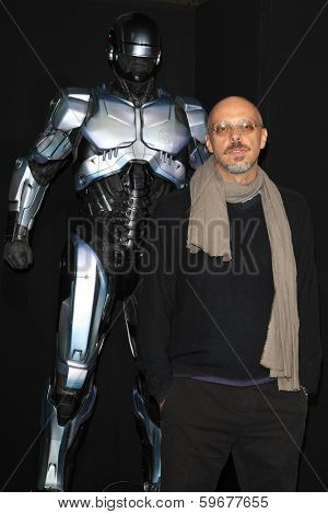 LOS ANGELES - FEB 10: Jose Padilha at the premiere of Columbia Pictures' 'Robocop' at TCL Chinese Theatre on February 10, 2014 in Los Angeles, California