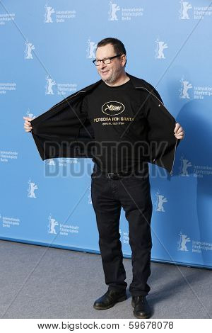 BERLIN - FEB 9: Lars von Trier at the 'Nymphomaniac Volume I' photocall - 64th Berlinale International Film Festival at Grand Hyatt Hotel on February 9, 2014 in Berlin, Germany