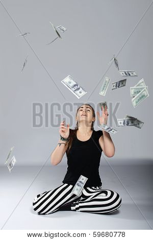 Teen Girl And Money