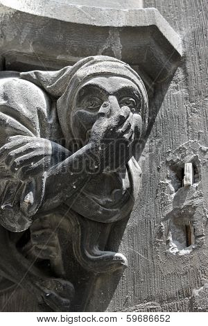Gargoyle On The New Town Hall In Munich