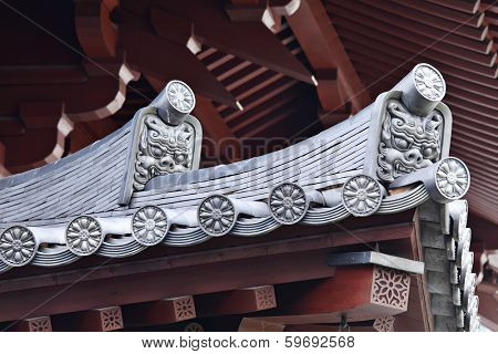 Roof eaves from japanese temple