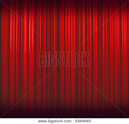 Deep Red Curtain Double Shaded