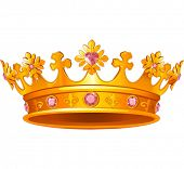 stock photo of crown jewels  - Beautiful Royal crown - JPG