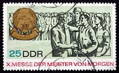 Postage Stamp Gdr 1967 Masters Of Tomorrow Fair
