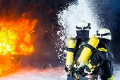 stock photo of fire  - Firefighter  - JPG