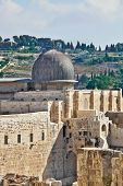 picture of aqsa  - Gray dome of the Al - JPG