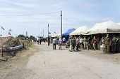 BORNE SULINOWO, POLAND - AUGUST 16: Military enthusiasts present at