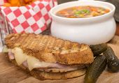 pic of pickled vegetables  - Delicious panini made with ham - JPG