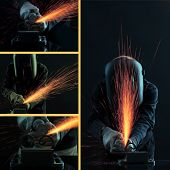 stock photo of welding  - Welding collage - JPG
