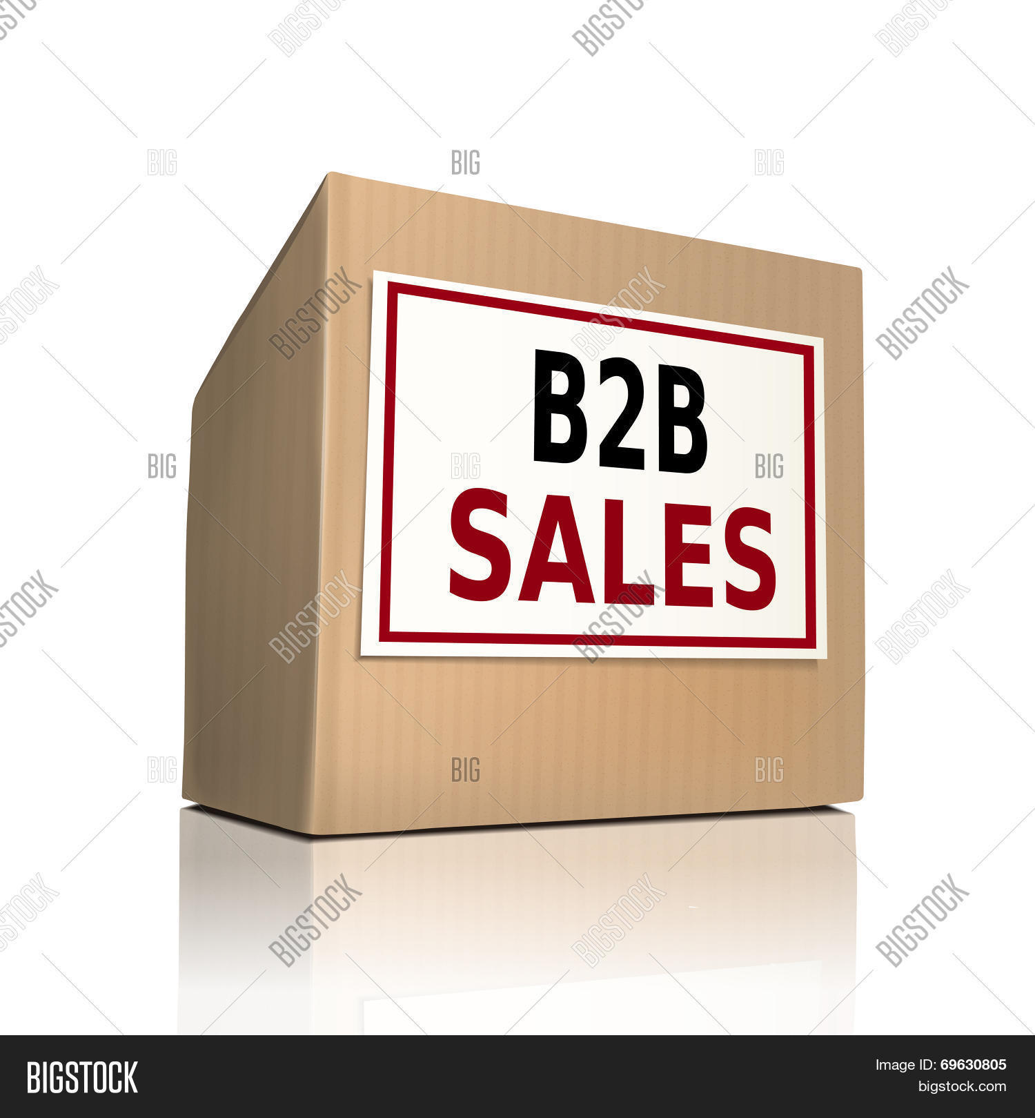 B To B Sales On A Paper Box Stock Vector & Stock Photos | Bigstock