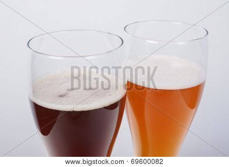 Two Glasses Of German Beer