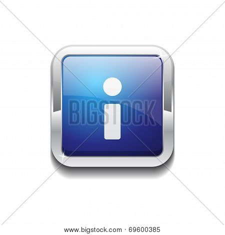 Info Rounded Corner Vector Blue Web Icon Button
