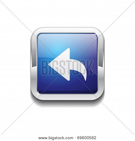 Reset Replay Rounded Corner Vector Blue Web Icon Button