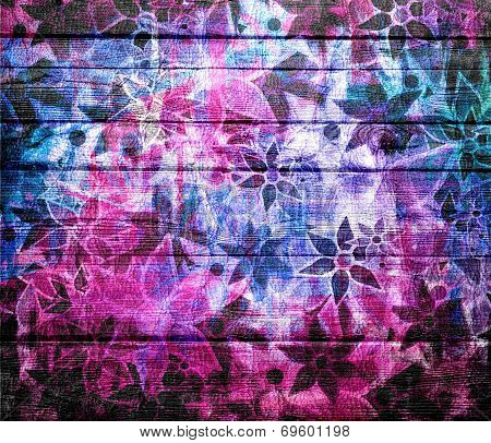 Abstract Art Vintage Flower Pattern