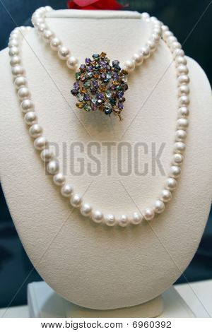 Pearls And Broach
