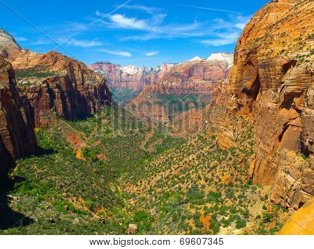 Main Valley Of Zion National Park