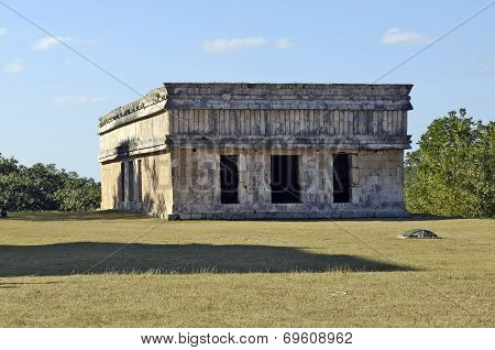 Ancient building built by the Mayas