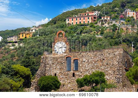 Castle Of Bonassola Liguria Italy