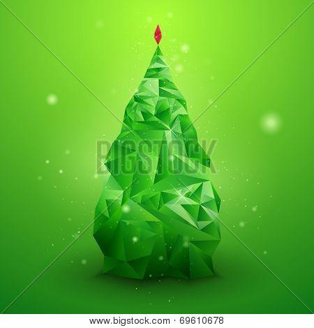 Glassy Vector Christmas Tree