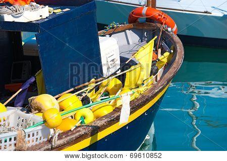 Fishing Boat In The Harbor - Liguria Italy