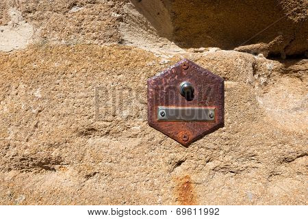 Old Doorbell On Wall - Tuscany Italy